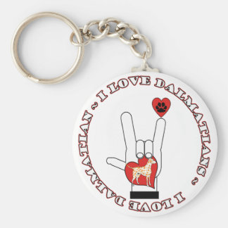 DALMATIANS - I ASL LOVE SIGN ORANGE DALMATIANS KEY RING