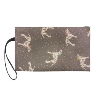 Dalmatians with Bows Wristlet