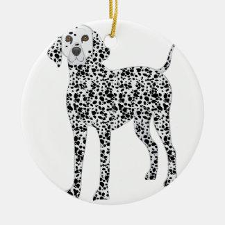 Dalmation Ceramic Ornament