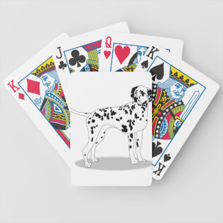 Dalmation Dog Bicycle Playing Cards