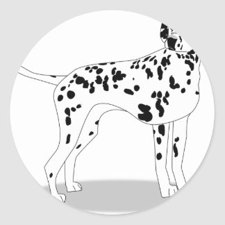 Dalmation Dog Classic Round Sticker
