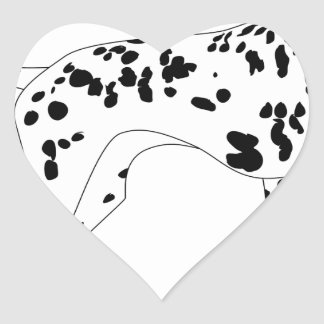 Dalmation Dog Heart Sticker