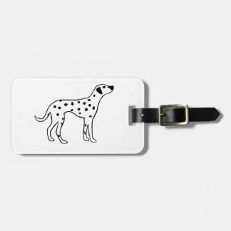 Dalmation Dog Luggage Tag