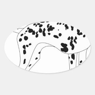 Dalmation Dog Oval Sticker