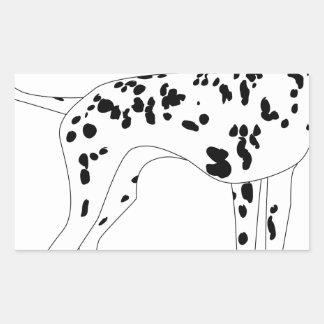 Dalmation Dog Rectangular Sticker