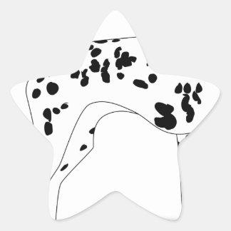 Dalmation Dog Star Sticker