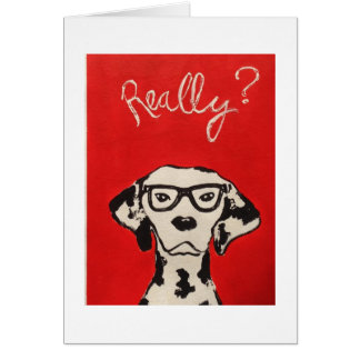 Dalmation in Red Card