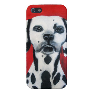 Dalmation On Duty iPhone 5/5S Cases