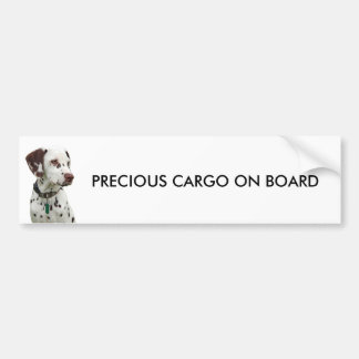 Dalmation puppy bumper sticker, gift idea bumper sticker