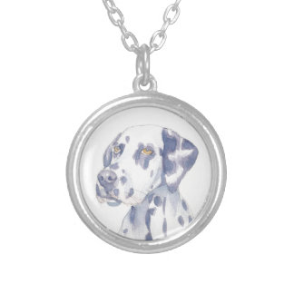 Dalmation Silver Plated Necklace