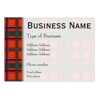 Dalzell clan Plaid Scottish tartan Pack Of Chubby Business Cards