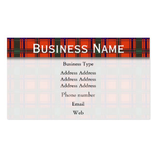 Dalzell clan Plaid Scottish tartan Pack Of Standard Business Cards