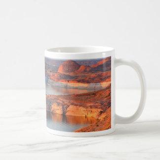 Dam and Bridge at sunrise Coffee Mug