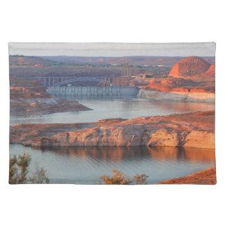 Dam and Bridge at sunrise Placemat