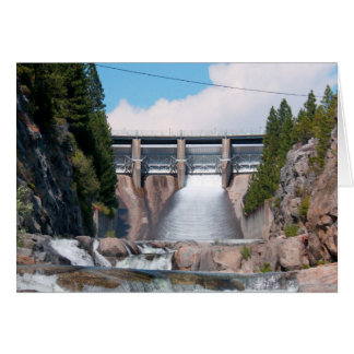 Dam Water Release Greeting Cards