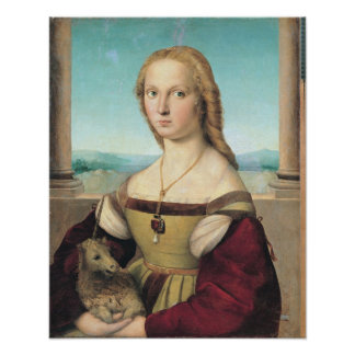 dama col liocorno or Lady with Unicorn Poster