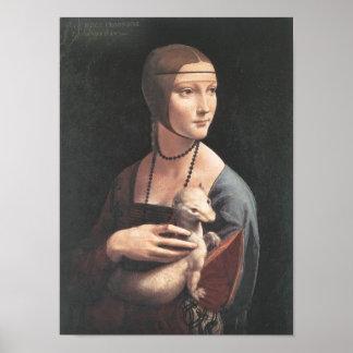 Dama con ermellino Da Vinci Fine Art Poster