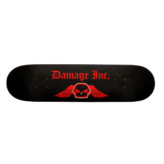 Damage Inc. Skull With Wings 21.6 Cm Skateboard Deck