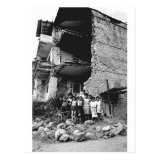Damage to Stepanakert Postcard