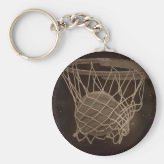 Damaged Basketball Photo Keychain