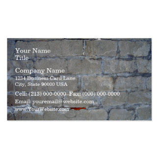 Damaged Gray Brick Wall Pack Of Standard Business Cards