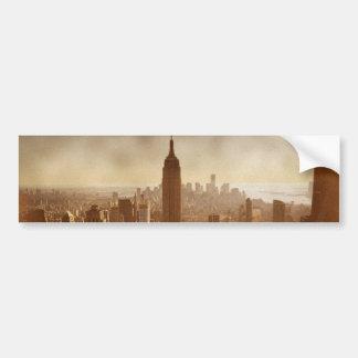 Damaged Photo Effect New York Bumper Sticker