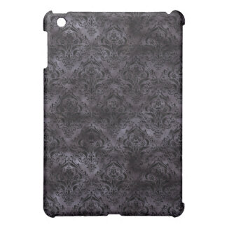 DAMASK1 BLACK MARBLE & BLACK WATERCOLOR (R) COVER FOR THE iPad MINI