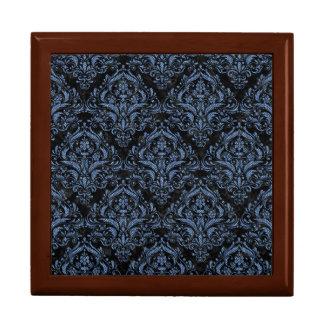 DAMASK1 BLACK MARBLE & BLUE DENIM GIFT BOX