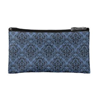 DAMASK1 BLACK MARBLE & BLUE DENIM (R) MAKEUP BAG
