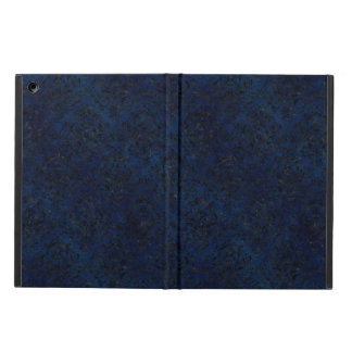 DAMASK1 BLACK MARBLE & BLUE GRUNGE (R) iPad AIR CASE