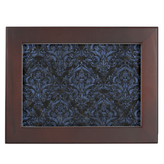 DAMASK1 BLACK MARBLE & BLUE STONE KEEPSAKE BOX