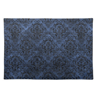 DAMASK1 BLACK MARBLE & BLUE STONE (R) PLACEMAT