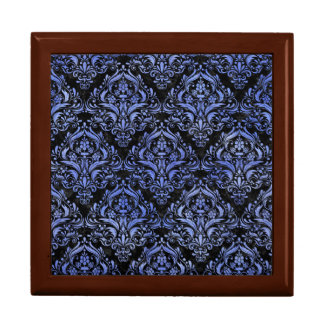 DAMASK1 BLACK MARBLE & BLUE WATERCOLOR GIFT BOX