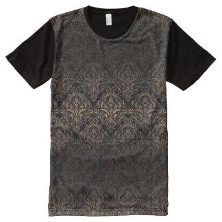 DAMASK1 BLACK MARBLE & BRONZE METAL All-Over PRINT T-Shirt