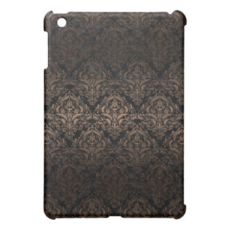 DAMASK1 BLACK MARBLE & BRONZE METAL COVER FOR THE iPad MINI