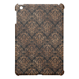 DAMASK1 BLACK MARBLE & BROWN STONE CASE FOR THE iPad MINI