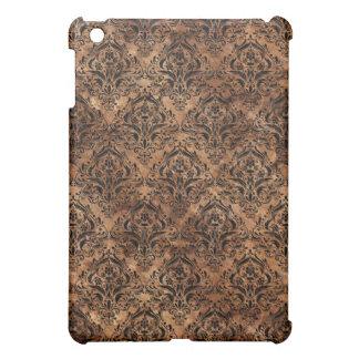 DAMASK1 BLACK MARBLE & BROWN STONE (R) iPad MINI COVERS