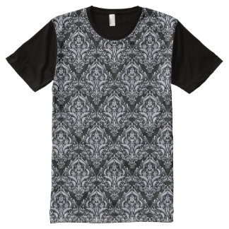 DAMASK1 BLACK MARBLE & WHITE MARBLE All-Over PRINT T-Shirt