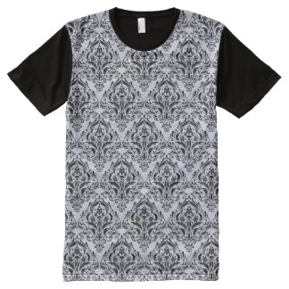 DAMASK1 BLACK MARBLE & WHITE MARBLE (R) All-Over PRINT T-Shirt