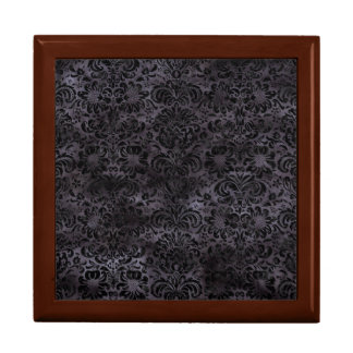 DAMASK2 BLACK MARBLE & BLACK WATERCOLOR (R) GIFT BOX