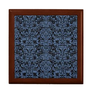 DAMASK2 BLACK MARBLE & BLUE DENIM GIFT BOX