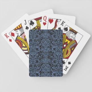DAMASK2 BLACK MARBLE & BLUE DENIM PLAYING CARDS