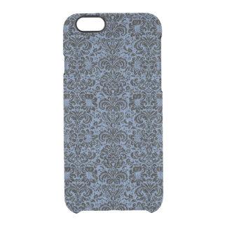 DAMASK2 BLACK MARBLE & BLUE DENIM (R) CLEAR iPhone 6/6S CASE