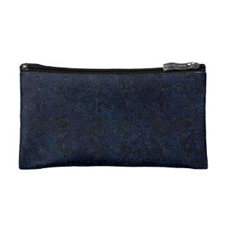 DAMASK2 BLACK MARBLE & BLUE GRUNGE COSMETIC BAG