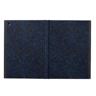DAMASK2 BLACK MARBLE & BLUE GRUNGE COVER FOR iPad AIR