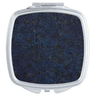 DAMASK2 BLACK MARBLE & BLUE GRUNGE MAKEUP MIRRORS