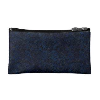 DAMASK2 BLACK MARBLE & BLUE GRUNGE (R) MAKEUP BAG