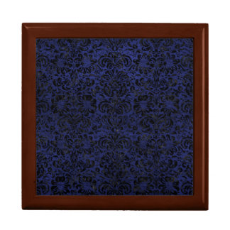 DAMASK2 BLACK MARBLE & BLUE LEATHER (R) GIFT BOX