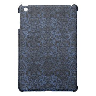DAMASK2 BLACK MARBLE & BLUE STONE (R) iPad MINI COVER