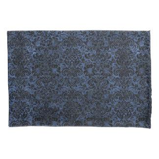 DAMASK2 BLACK MARBLE & BLUE STONE (R) PILLOWCASE